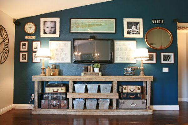 Hide That TV Ideas For A DIY Accent Wall Includes