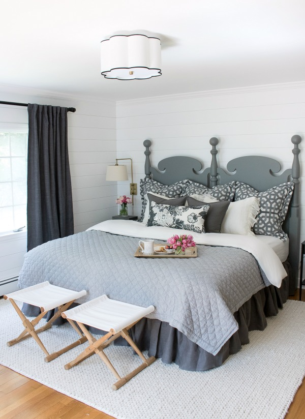Master-bedroom-makeover-with-planked-walls-painted-in-Farrow-Ball-All-White-and-soothing-neutral-decor.-A-HUGE-change-from-the-before-pics-in-this-post
