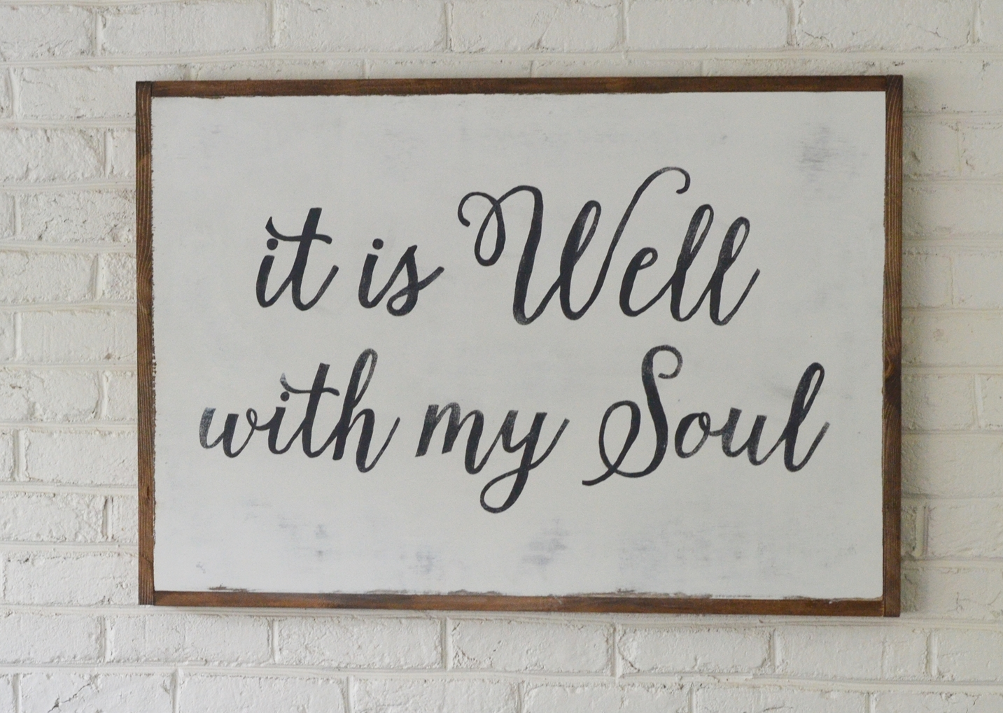 "DIY ""It is Well with my Soul"" Wood Sign"