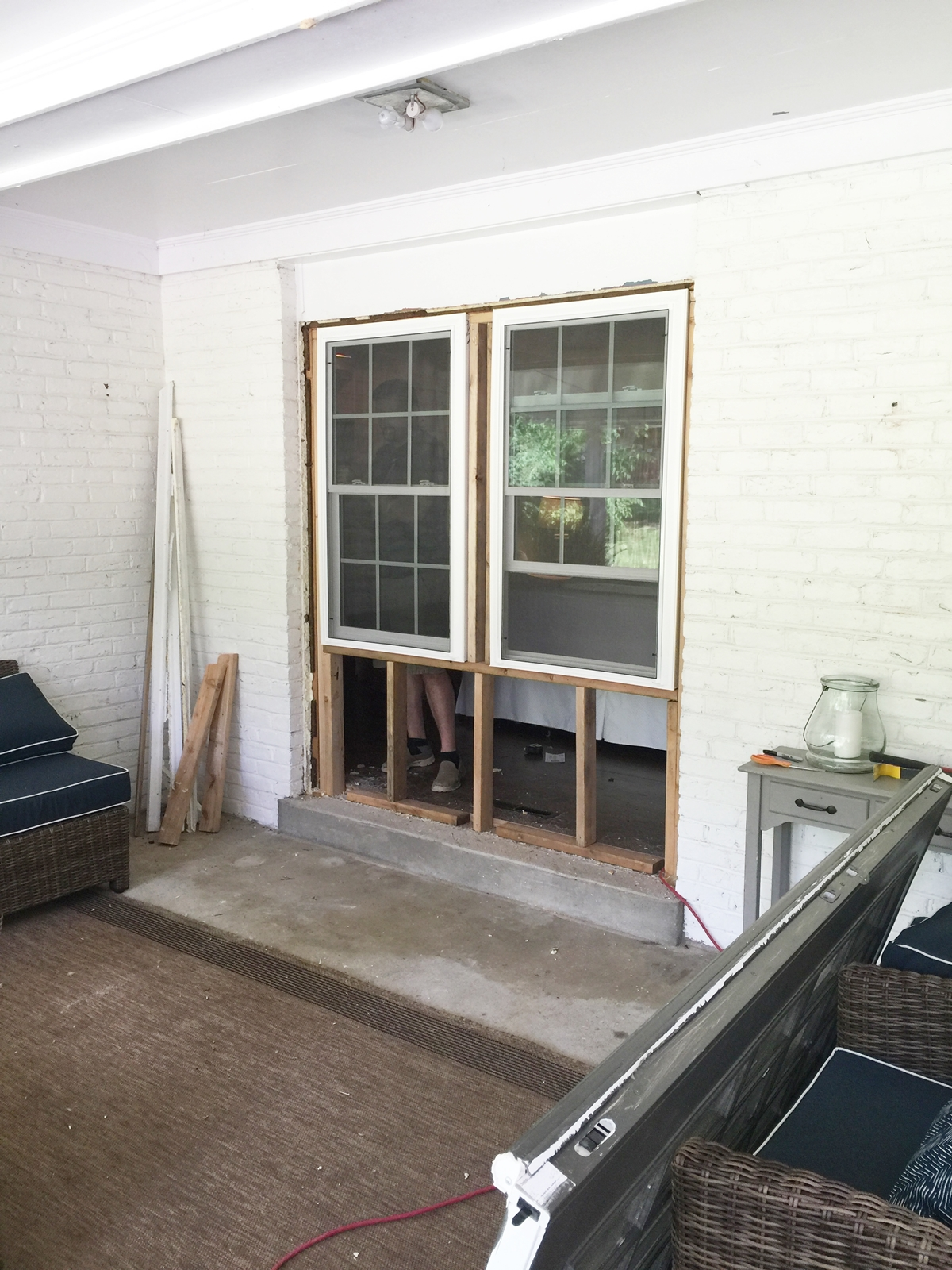 This Is What It Looked Like On The Inside. You Can See We Added New  Insulation Below The Windows. I Did Not Take A Picture Before We Left For  Our Trip, ...