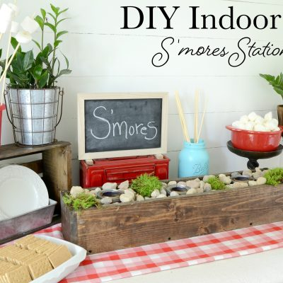 DIY Indoor S'mores Station