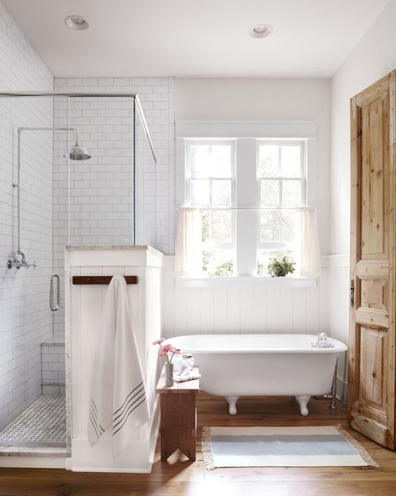 How to Style a Modern Farmhouse Bathroom - Beneath My Heart on Modern Farmhouse Shower  id=75574