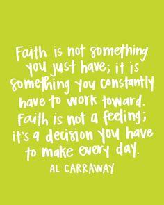 Faith is Hard