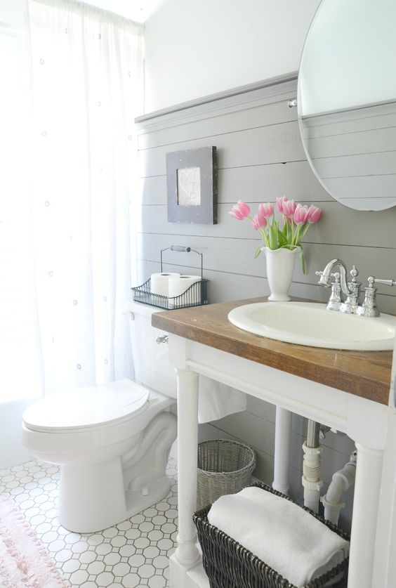 How To Style A Modern Farmhouse Bathroom Beneath My Heart