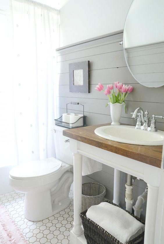 How to Style a Modern Farmhouse Bathroom - Beneath My Heart on Modern Farmhouse Bathroom  id=54452