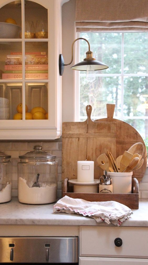 10 Farmhouse Kitchen Essentials - Beneath My Heart on Farmhouse Counter Tops  id=16060