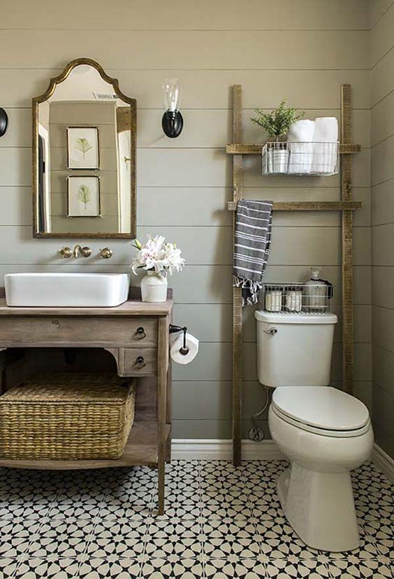 Modern Farmhouse Bathroom how to style a modern farmhouse bathroom - beneath my heart