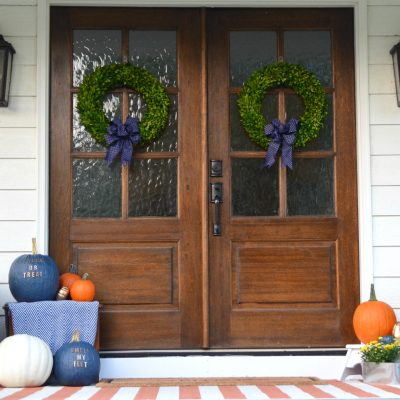 Our Fall Farmhouse Front Porch