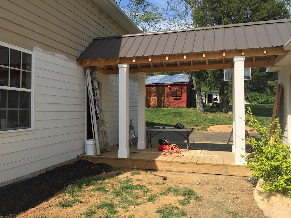 adding a walkway to our garage