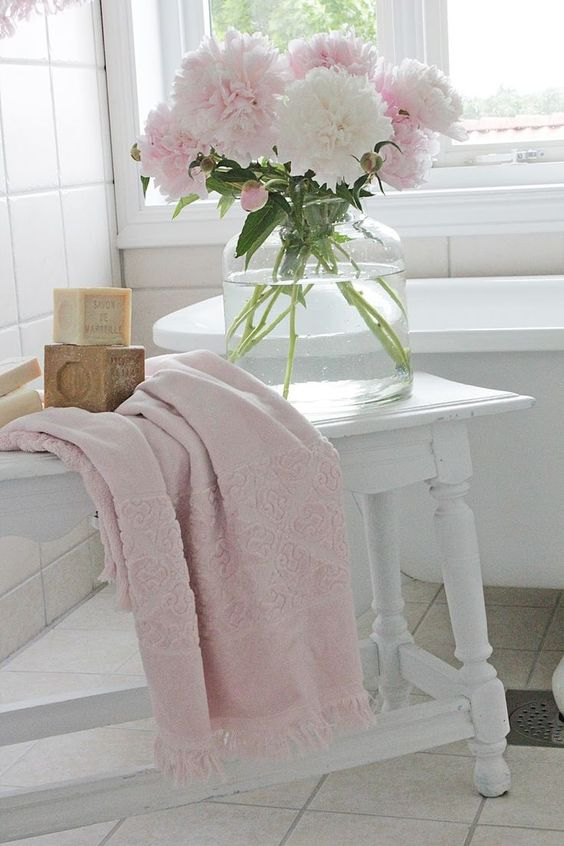 Blush Pink Bathroom Decor : Decorating with color blush pink beneath my heart