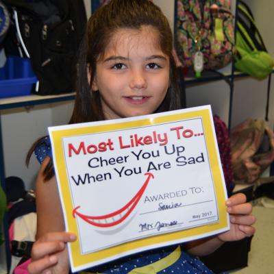 Sania's Classroom Award!
