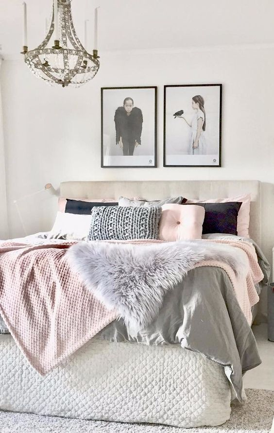 Decorating with color blush pink beneath my heart for Bedroom ideas light grey