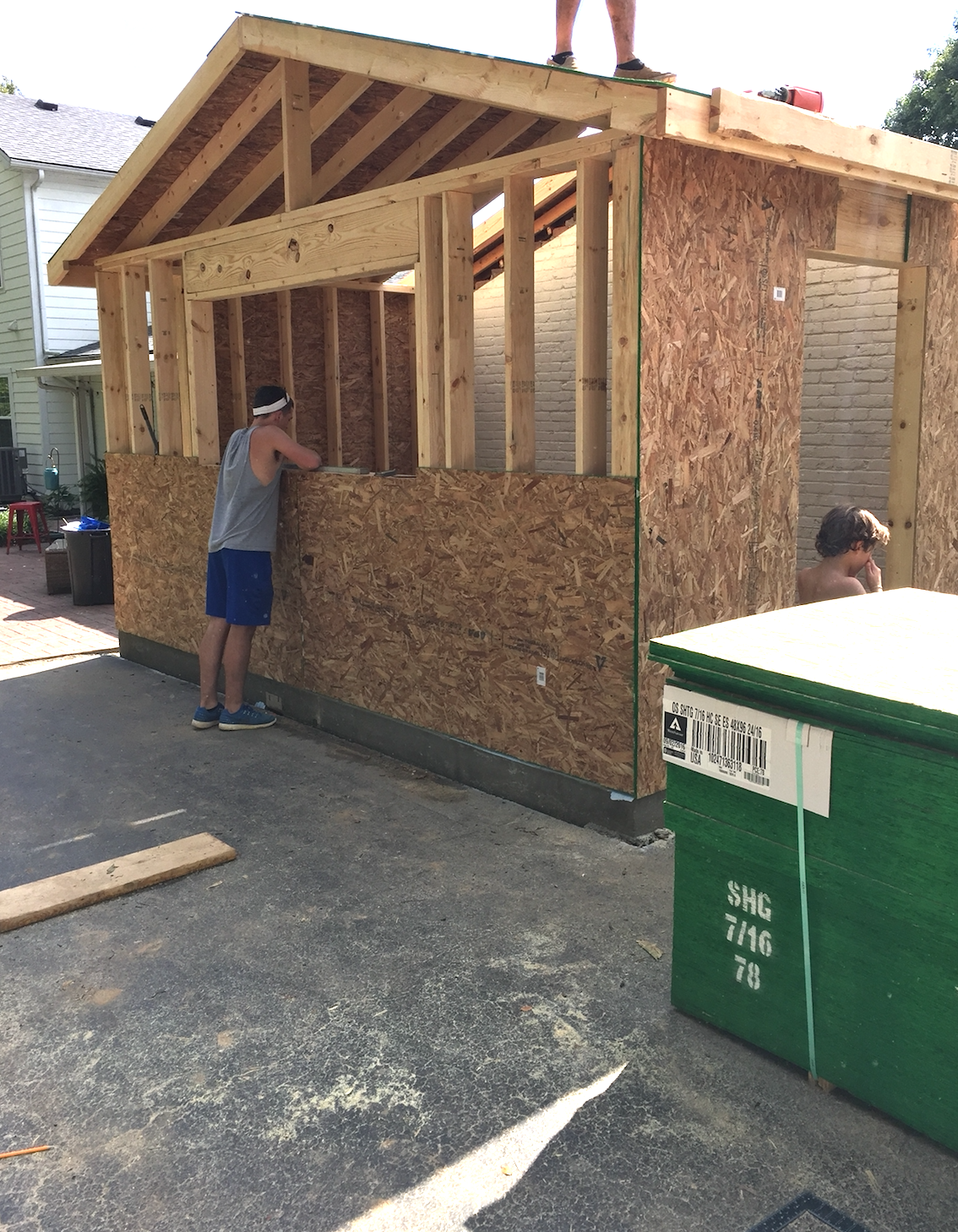 I Added The Picture Below To Show You Where Our New Laundry Room Is In Perspective Garage We Built These Two Structures Were Going Up At