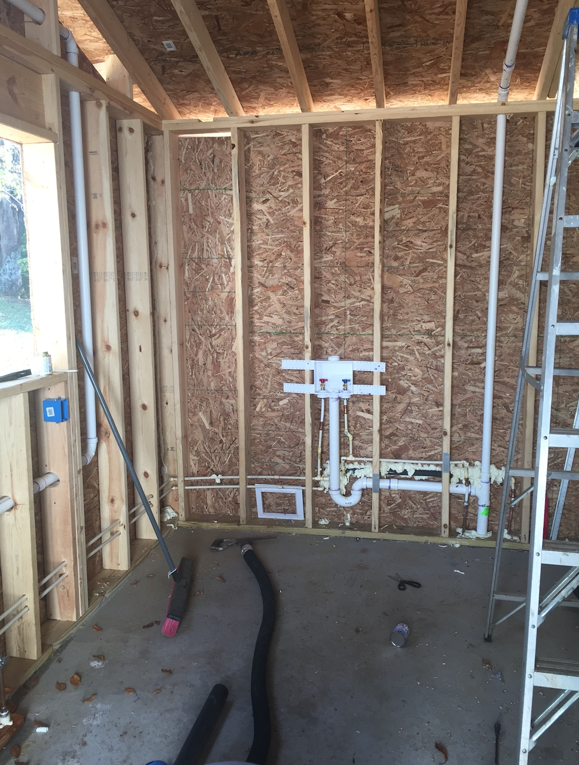 Once We Got The Shell Of Our New Laundry Room Built Were Able To Tear Out Doorway That Lead Old