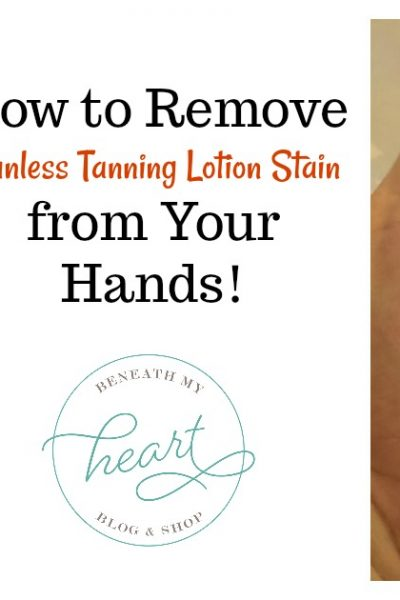 How to Remove Tanning Lotion Stain from your Hands!