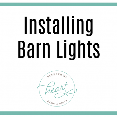 New Barn Lights in our Laundry Room