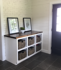 Laundry Room Butcher Block Cabinets