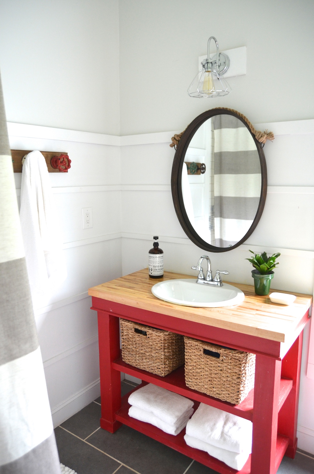 Butcher Block Top Bathroom Vanities