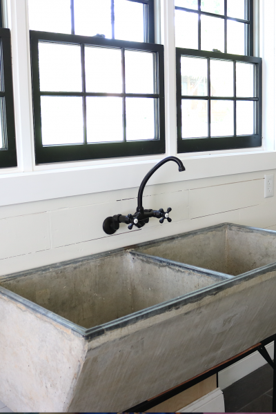 Our New Laundry Room Faucet for our Vintage Concrete Sink