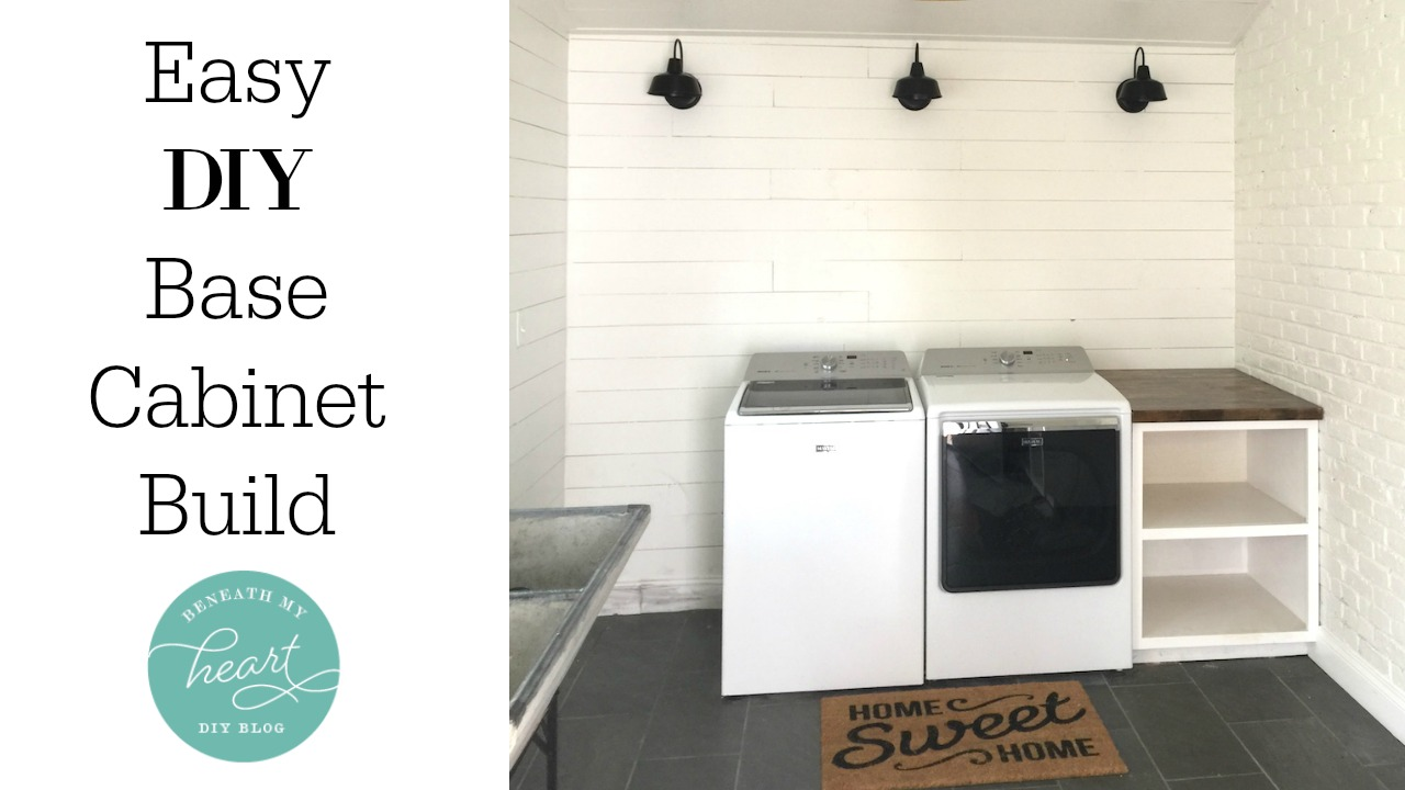 easy diy base cabinet (for our laundry room) - beneath my heart Laundry Room Base Cabinets