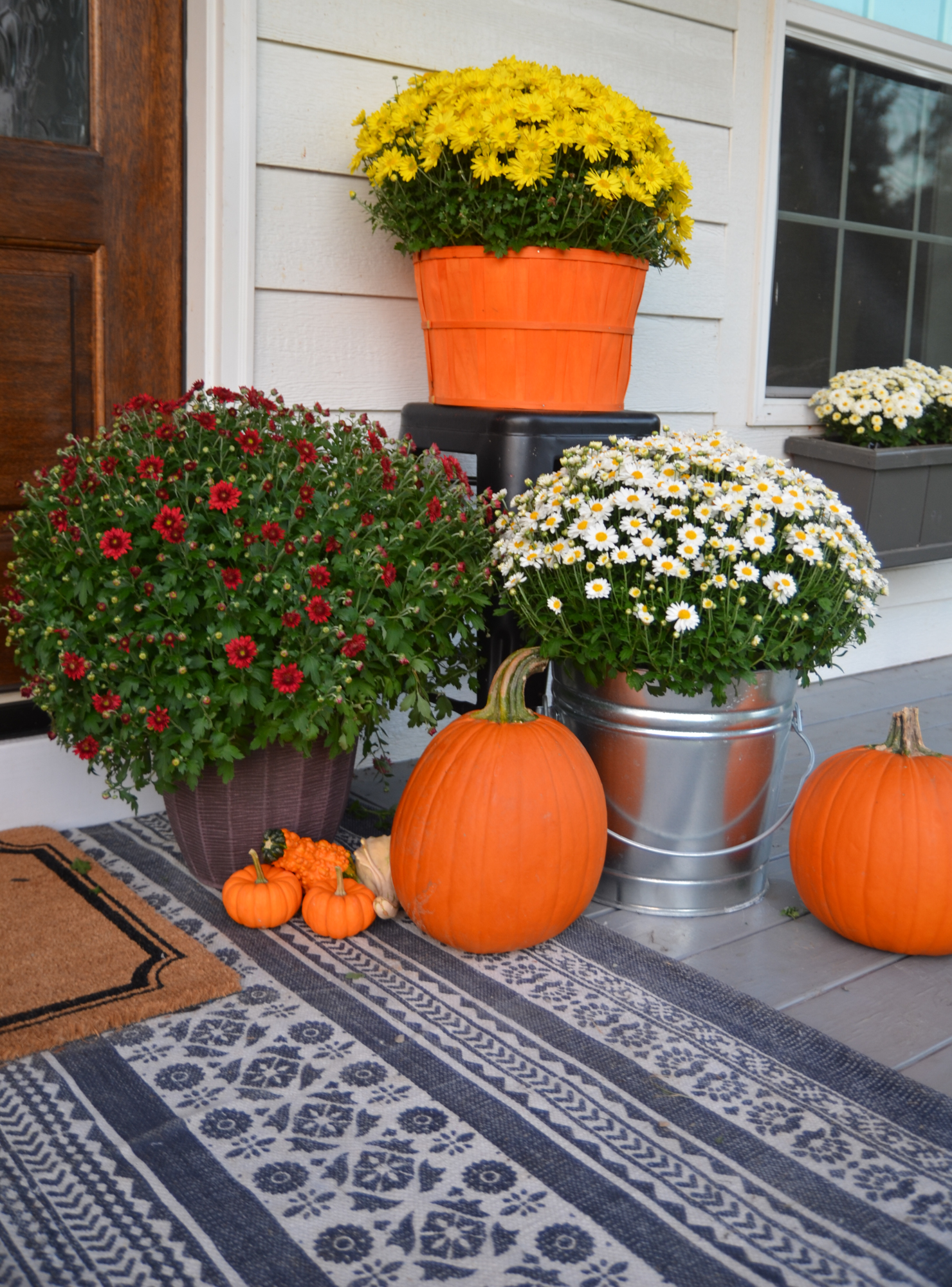 Fall Farmhouse Front Porch Beneath My Heart