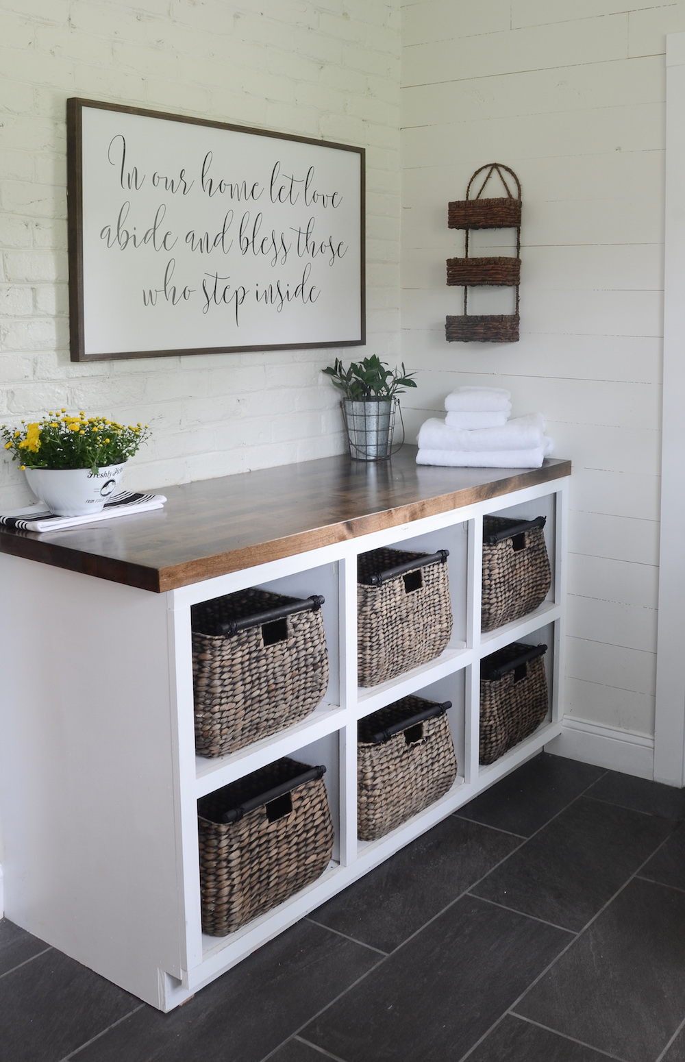 modern farmhouse laundry room reveal beneath my heart. Black Bedroom Furniture Sets. Home Design Ideas