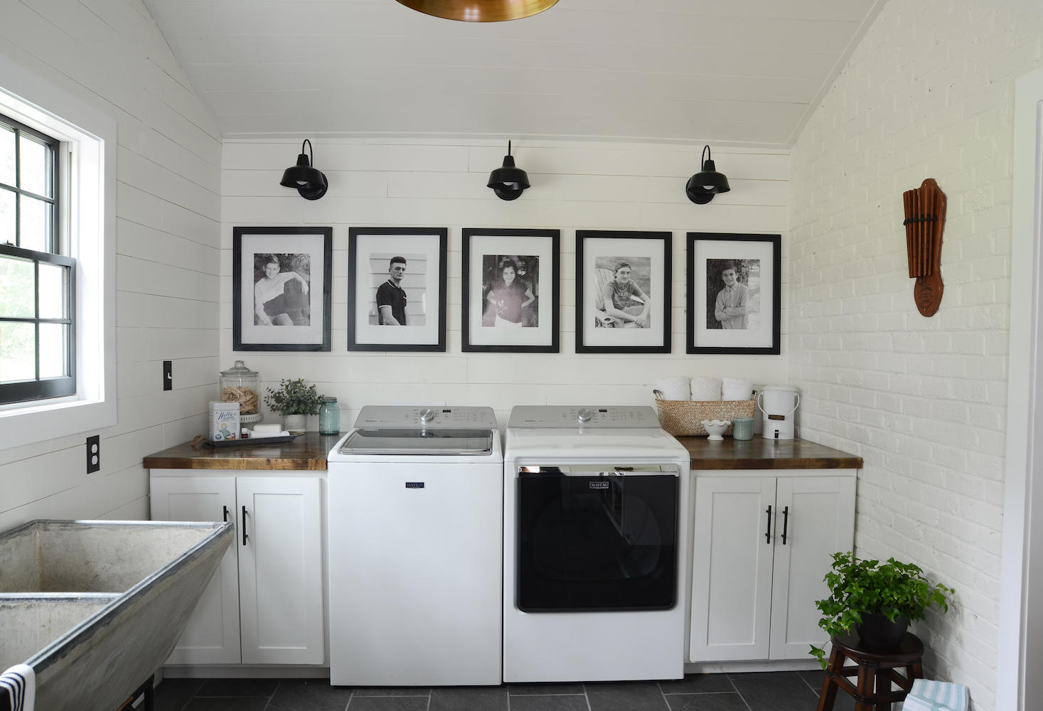 Modern Farmhouse Laundry Room Reveal Beneath My Heart