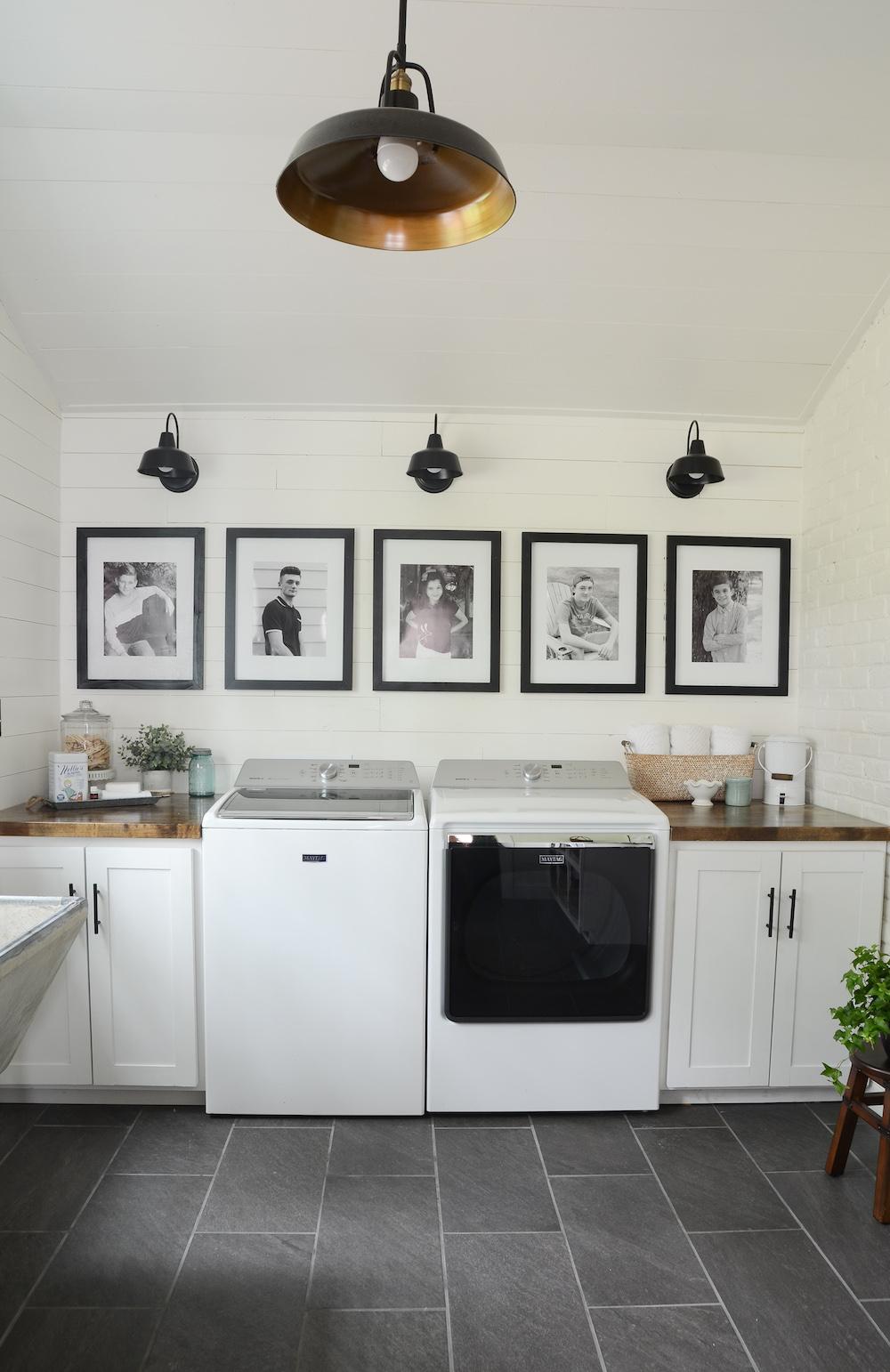 Modern Farmhouse Laundry Room Reveal Beneath My Heart