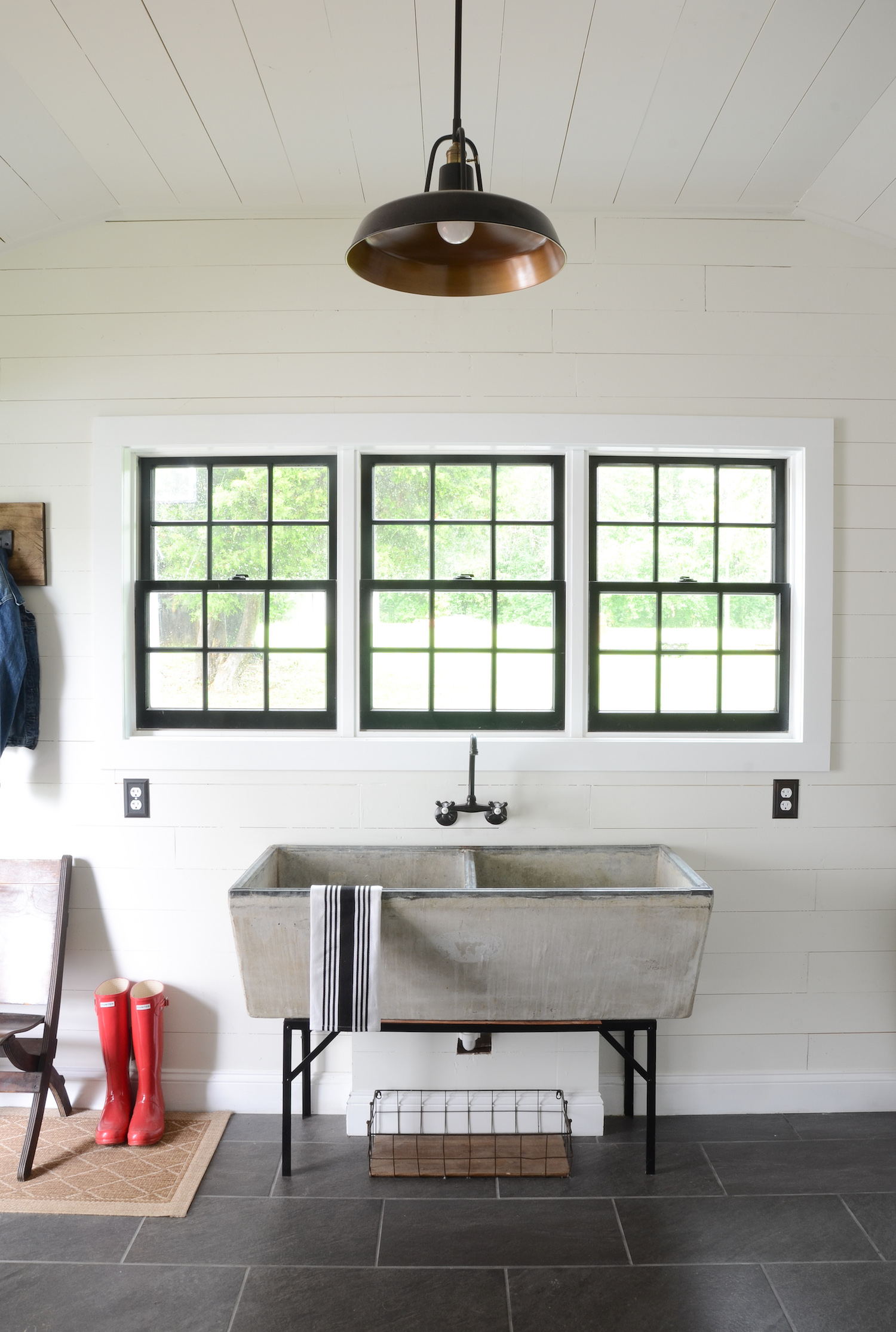 Another Feature I Love In The Laundry Room Is Beautiful Farmhouse Pendant Light That Hangs Right Middle Of Space Product Links At Bottom