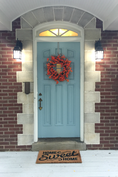 Get the Look:  My Niece's Fall Front Door!