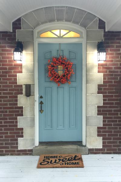 Get the Look:  My Niece's Fall Front Door!