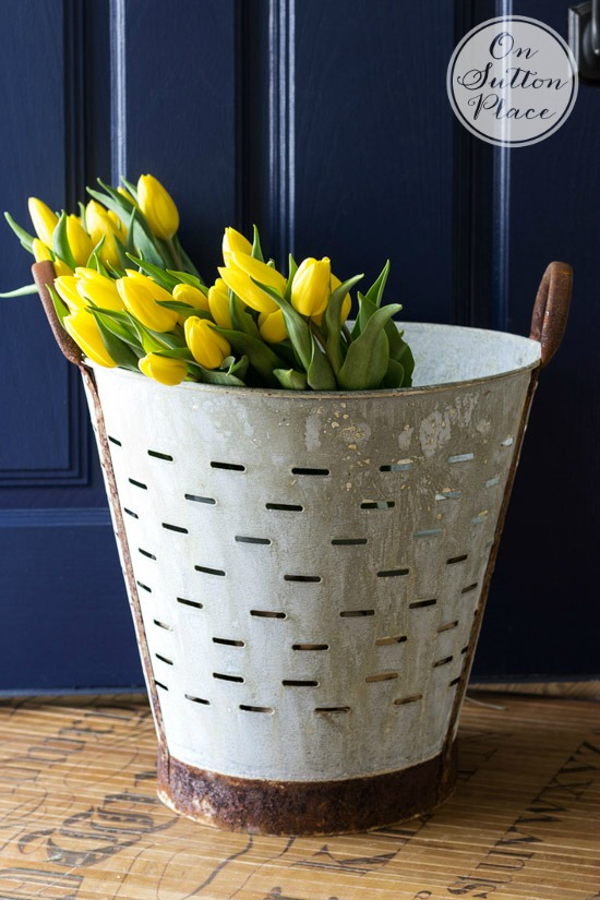 Get the look decorating with olive buckets beneath my heart for How to decorate a bucket