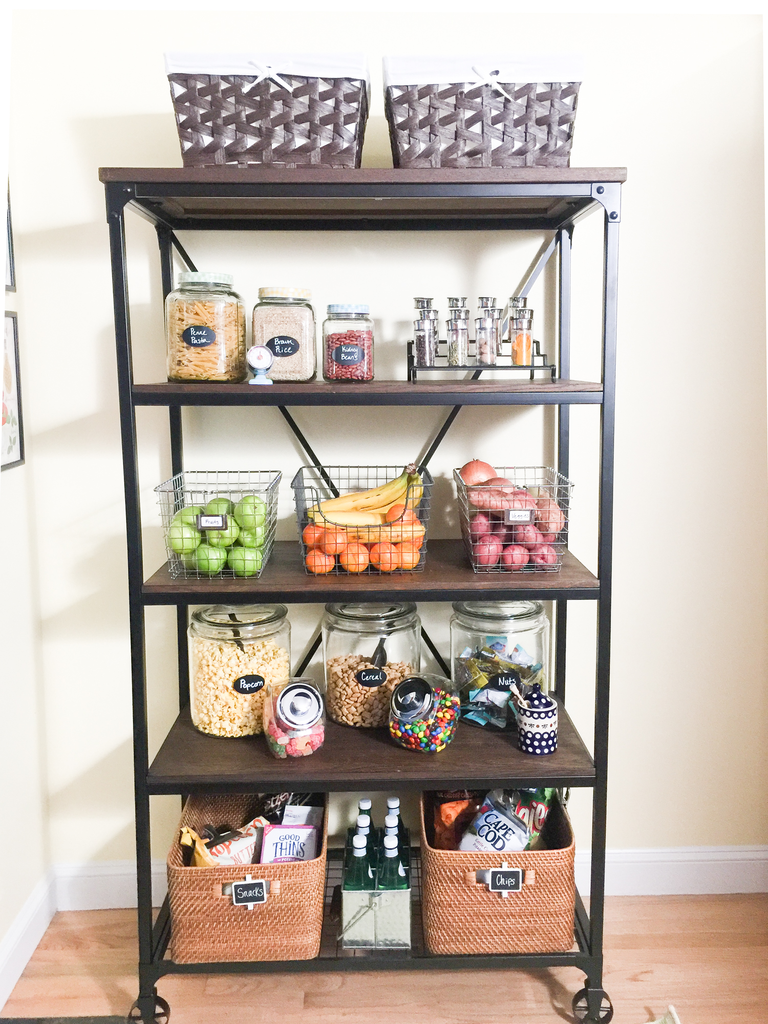 If You Have A Blank Wall Space Anywhere In Your Kitchen, You Can Put Some  Open Shelving Units (or Etageres) To Create More Storage Space!