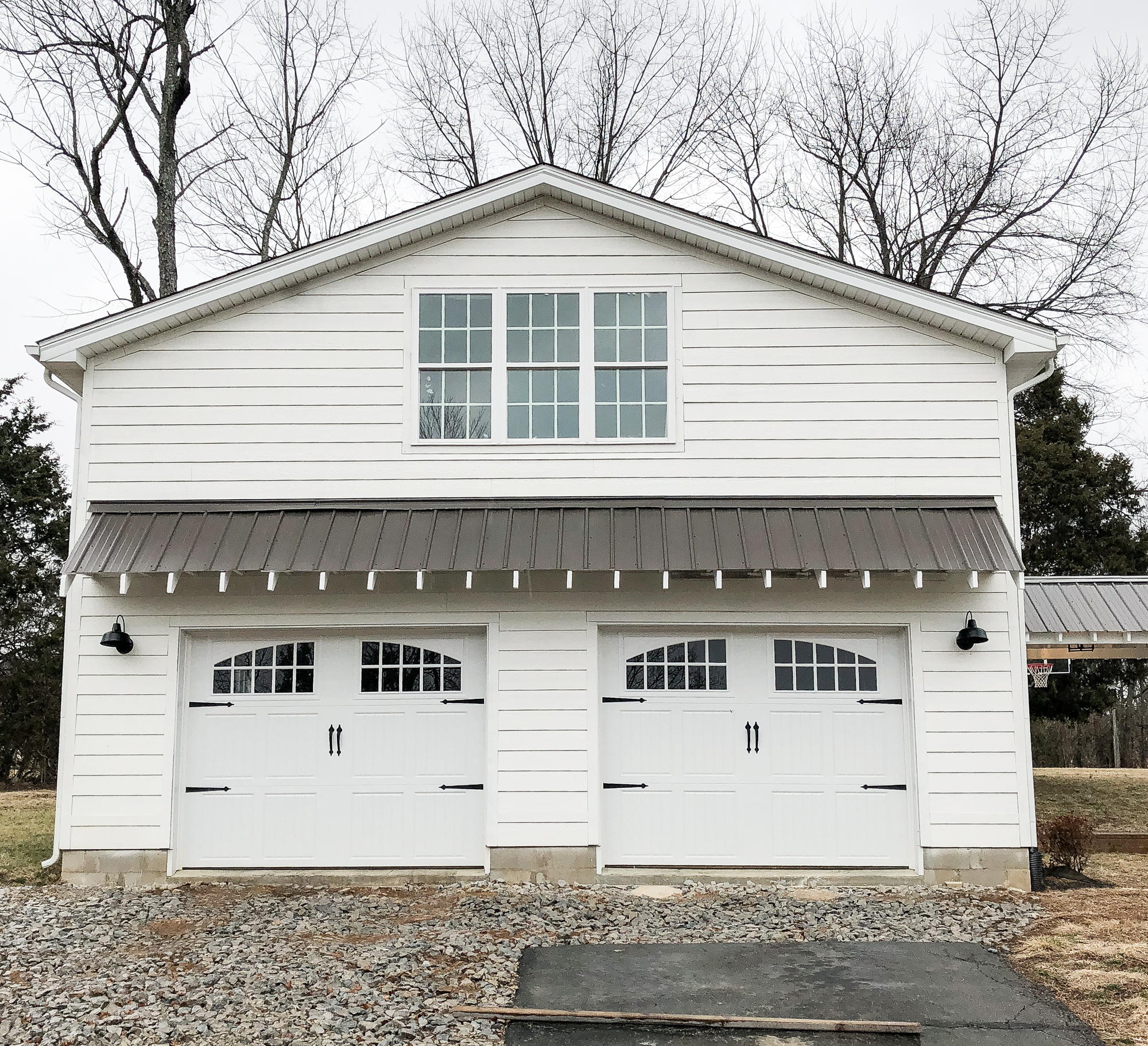 Our garage 39 s exterior update beneath my heart for Small garage plans free
