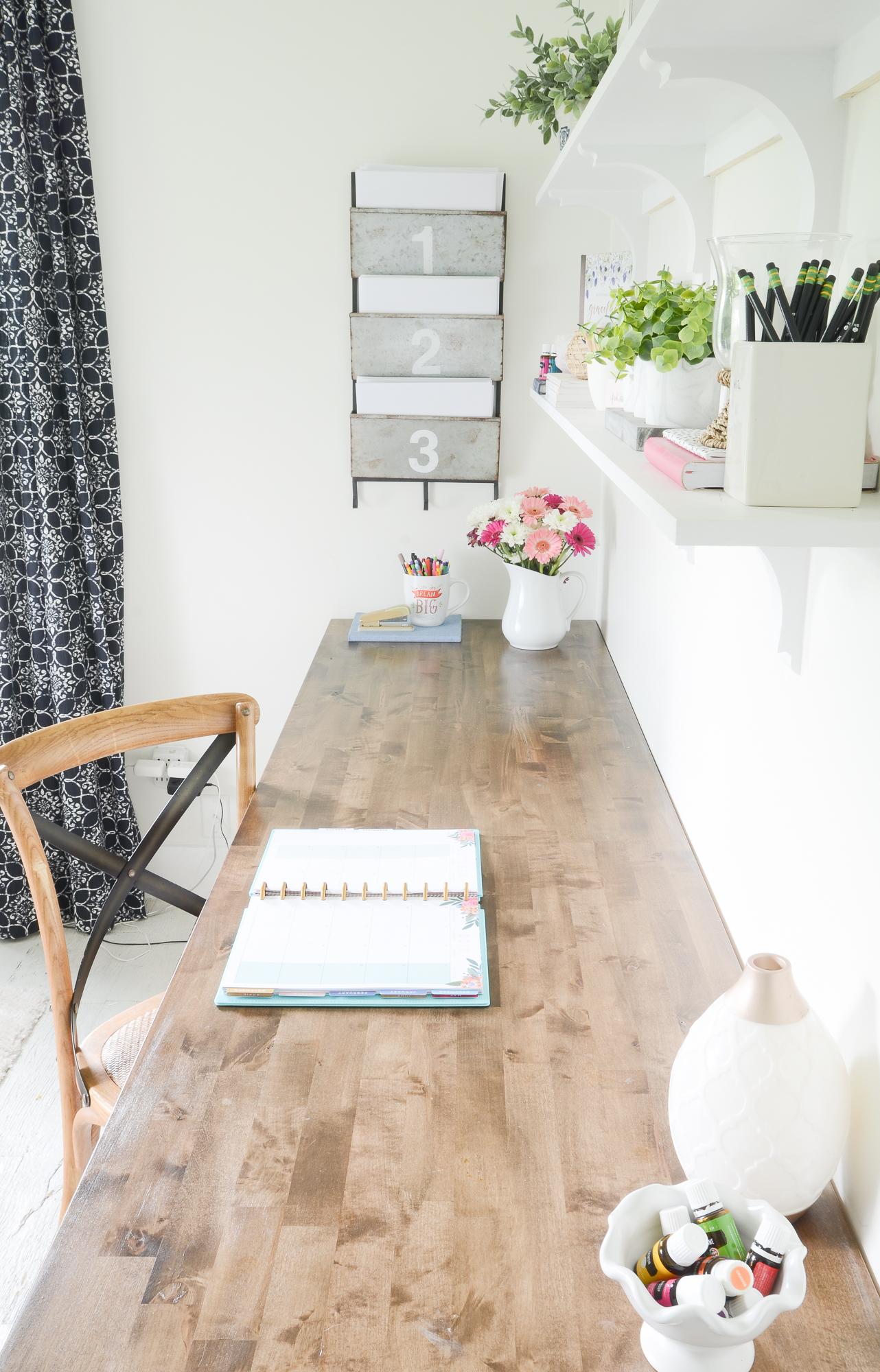 Brilliant Diy Butcher Block Desk For My Home Office Beneath My Heart Download Free Architecture Designs Embacsunscenecom