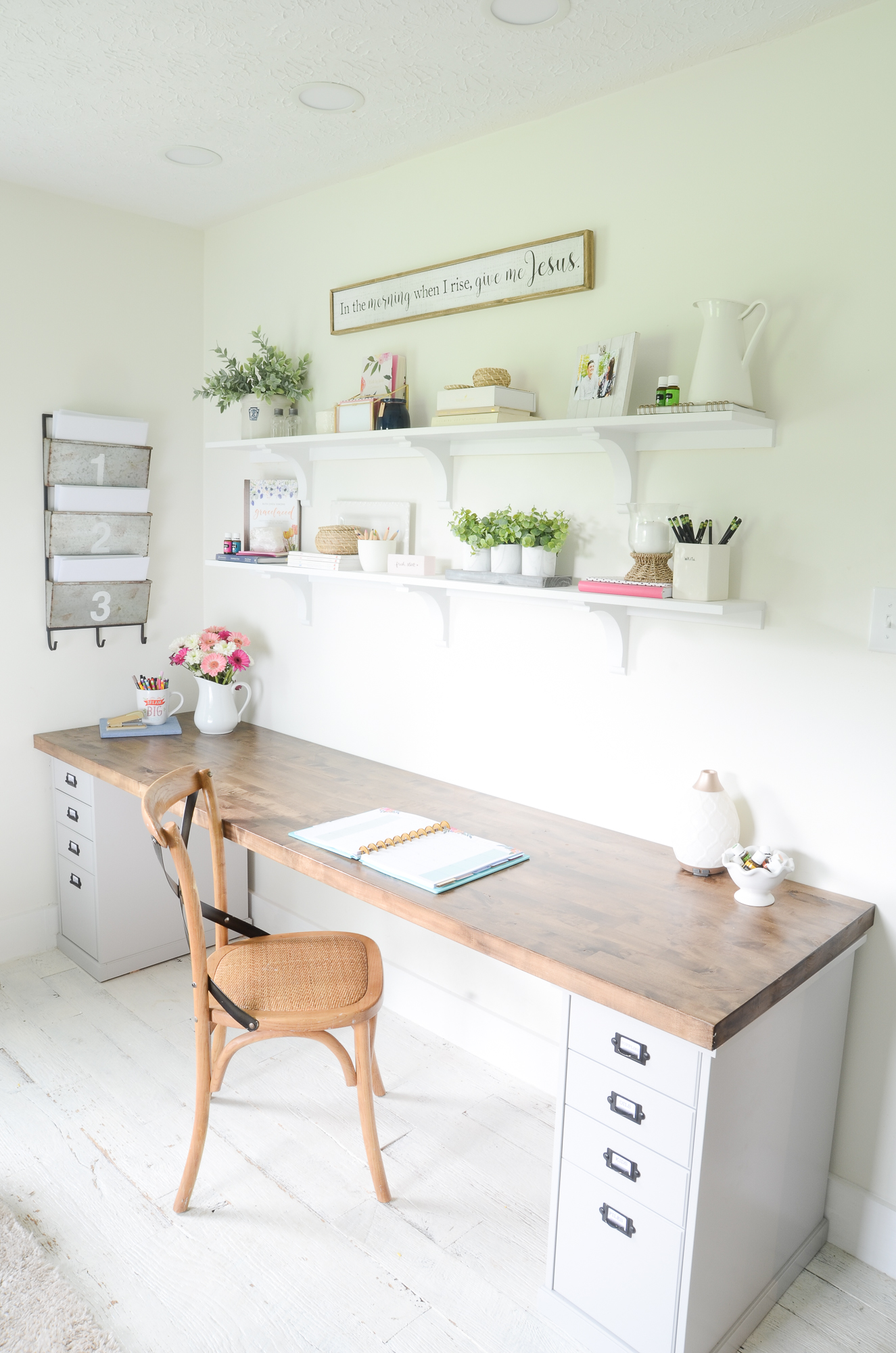 DIY Butcher Block Desk for my Home Office - Beneath My Heart