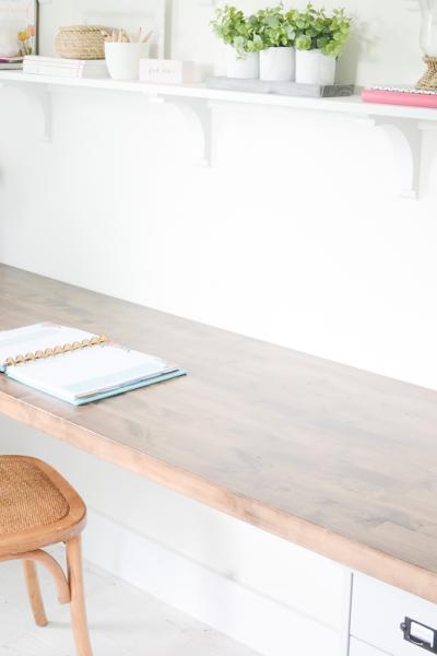 DIY Butcher Block Desk for my Home Office