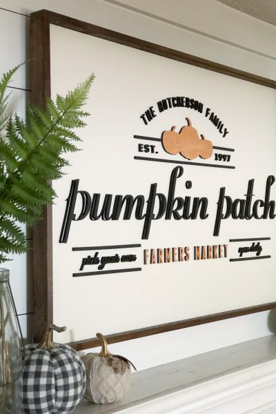 My New Personalized Fall Sign for my Fireplace!  {Major Cuteness Alert!}