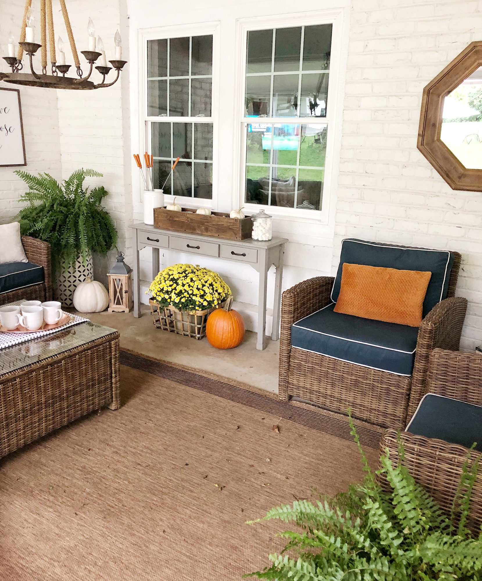 Back Patio Fall Decor