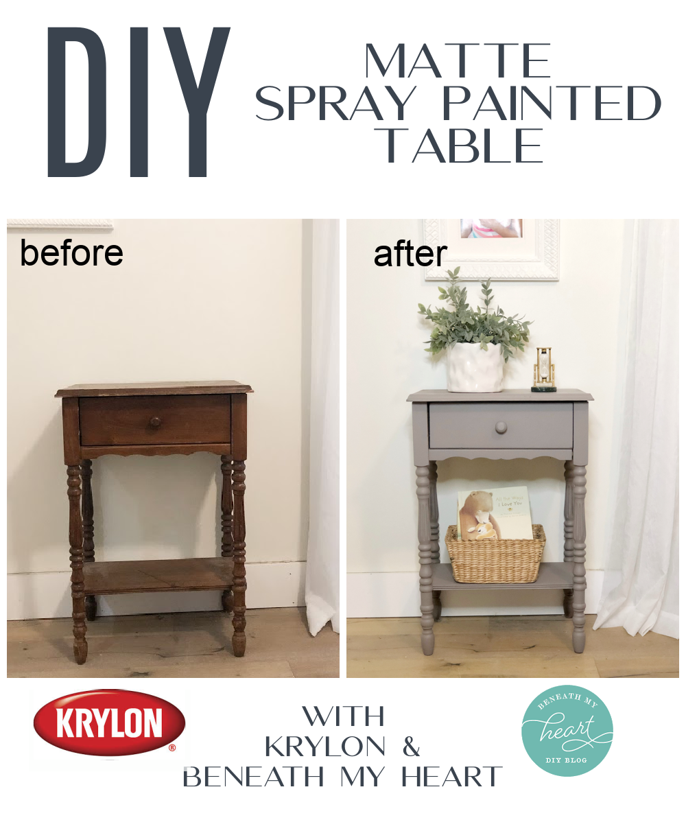DIY Matte Painted Night Stand