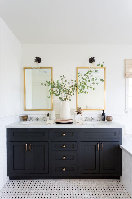 Jack and jill bathroom inspiration for the flip house - Jack n jill bathroom ...