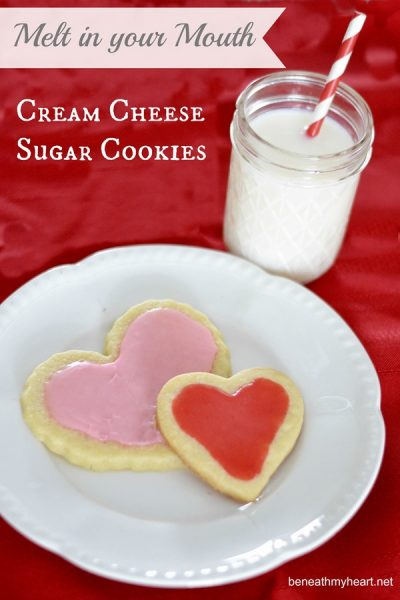 Melt in Your Mouth Cream Cheese Sugar Cookies (and other Valentine goodies!)