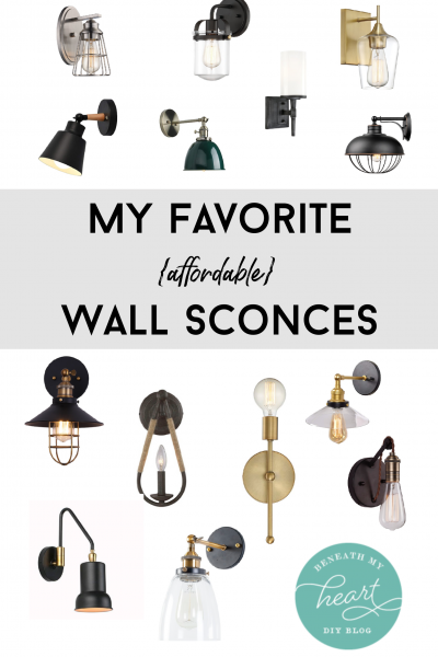 My Favorite (affordable) Wall Sconces