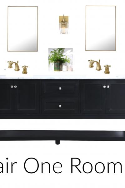 """Before"" Bathroom Pictures of our #Wayfair1RoomReno!"