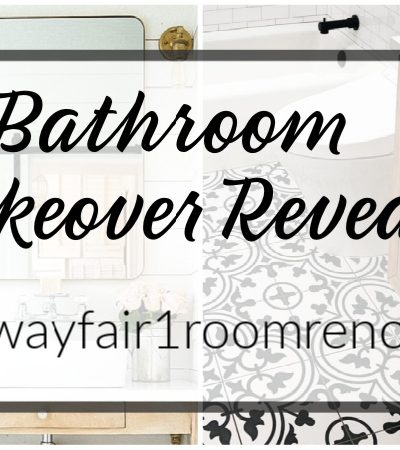 Four More Inspirational Bathroom Makeovers! {#wayfair1roomreno}