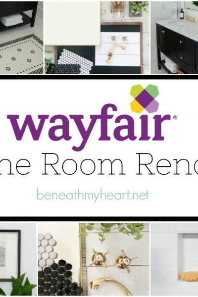 Our Flip House Bathroom Makeover REVEAL! {Wayfair One Room Reno}