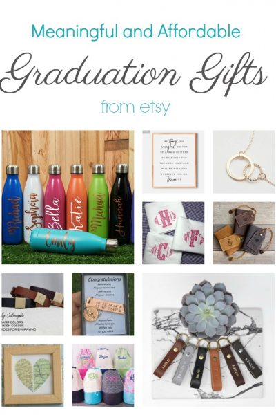 Meaningful and Affordable Graduation Gifts from Etsy!