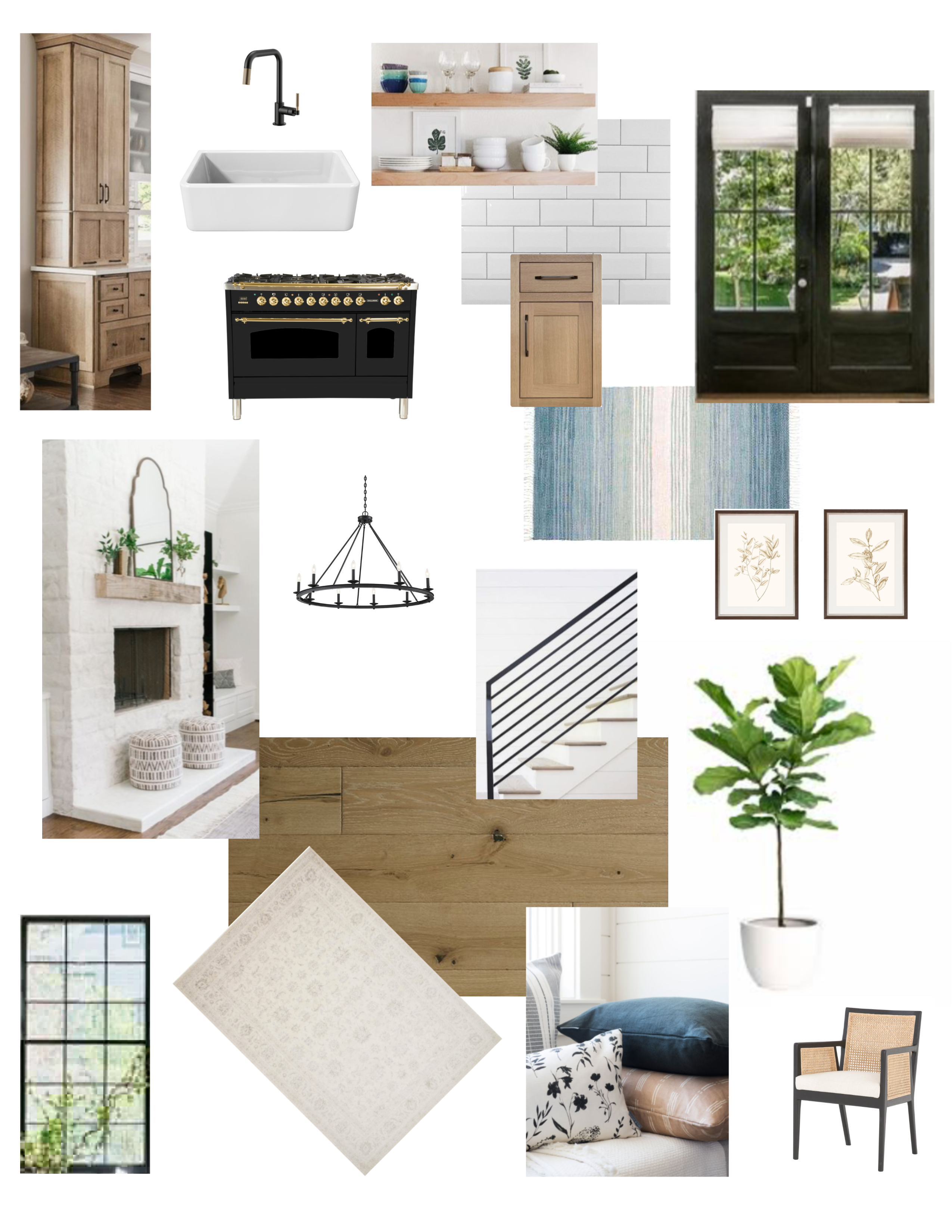 Modern Ranch mood board