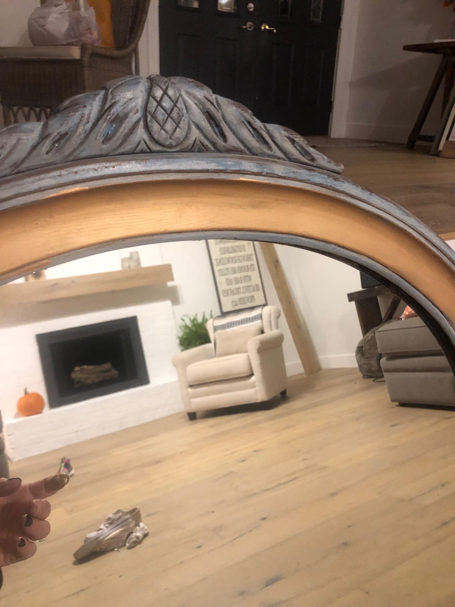 DIY mirror makeover with rub 'n buff