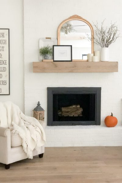 DIY Mirror Makeover {for our Fireplace Mantel}